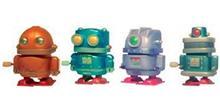 Robot andarín de plástico